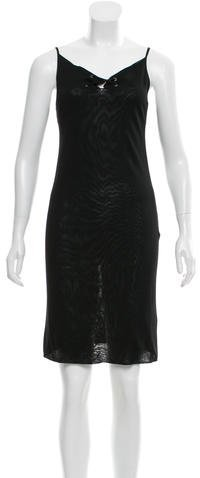GucciGucci Lace-Up Knit Dress