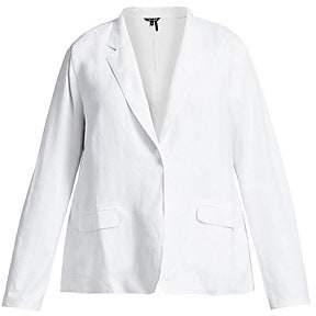 Nic+Zoe Plus Plus Women's Front Runner Linen-Blend Blazer