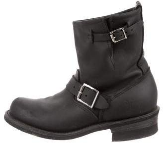Frye Round-Toe Moto Ankle Boots