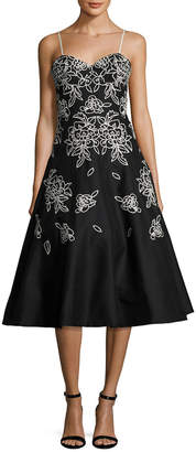 Tracy Reese Embroidered A Line Dress
