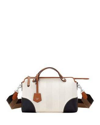 Fendi By The Way Medium Colorblock Pequin Satchel Bag