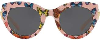Versace Eyewear Tribute butterfly print sunglasses