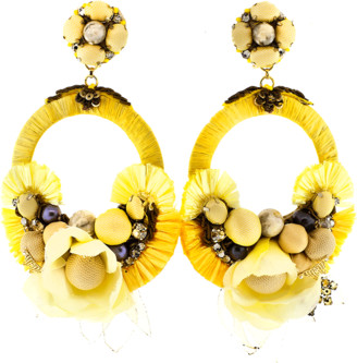 Ranjana Khan Yellow Earrings