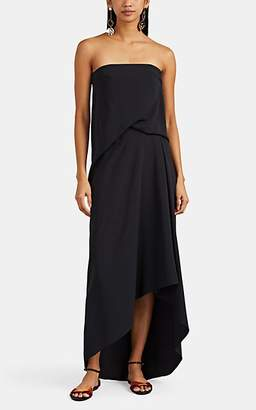 Cédric Charlier Women's Draped Crepe Strapless Dress - Black