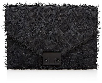 Loeffler Randall Junior Lock Fringe Leather Clutch $295 thestylecure.com