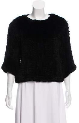 Etienne Aigner Fur Knit Sweater
