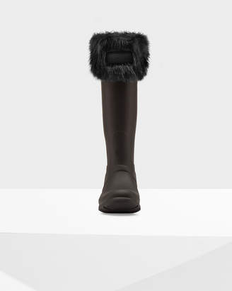 Hunter Women's Original Faux Fur Cuff Boot Socks