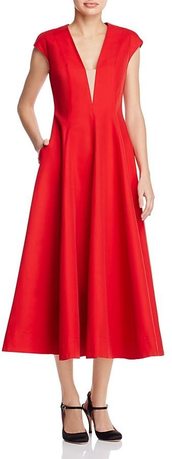 Paule KaPAULE KA Illusion-Detail Midi Dress