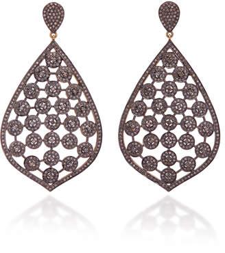 Sanjay Kasliwal 14K Gold Silver And Pavé Diamond Earrings