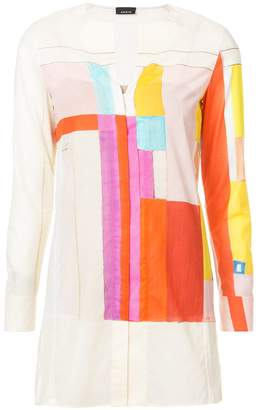 Akris colour block shirt