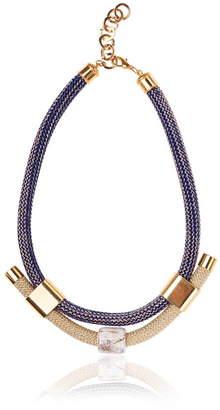 Iris Navy Style Statement Necklace