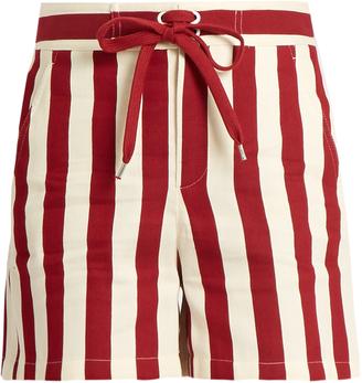 REDVALENTINO Striped cotton-blend shorts $260 thestylecure.com