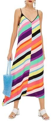 Topshop Stripe Maxi Dress