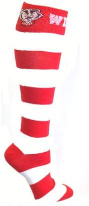 Donegal Bay Wisconsin Badgers Striped Dress Sock