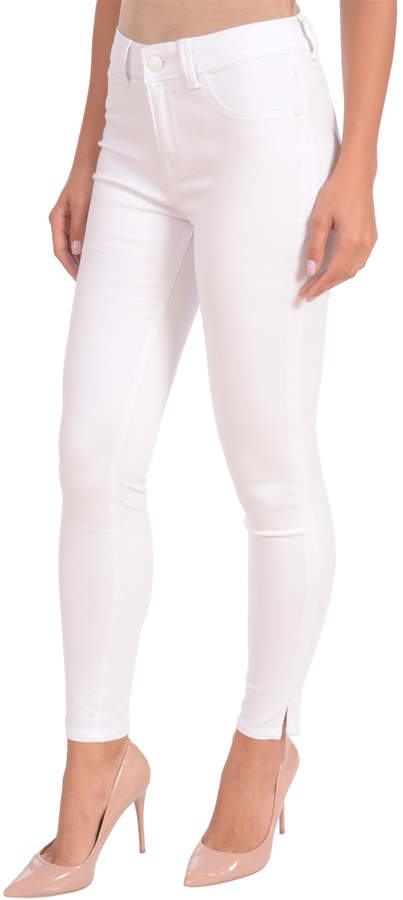 White High-Rise Arianna Ankle Jeans - Plus