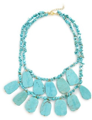Women's Panacea Turquoise Statement Necklace $68 thestylecure.com