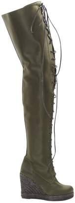 A.F.Vandevorst Green Leather Boots