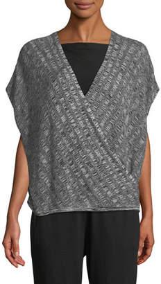 Eileen Fisher Silk-Blend Cap-Sleeve Sweater, Petite