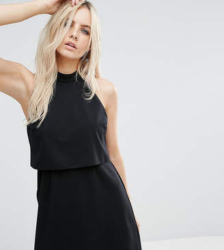 Asos Mini Dress with Crop Top Layer and High Neck