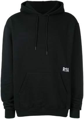 RtA printed drawstring hoodie