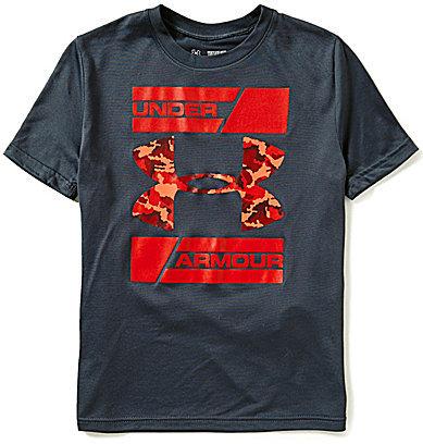 Under Armour Big Boys 8-20 Double Decker Short-Sleeve Tee