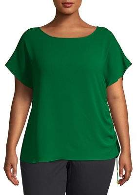 MICHAEL Michael Kors Plus Side Ruched Top
