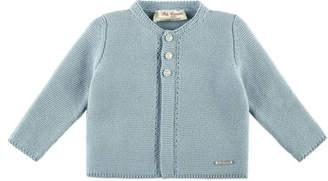 Carrera Pili Knit Cotton Cardigan, Blue, Size 3M-2Y