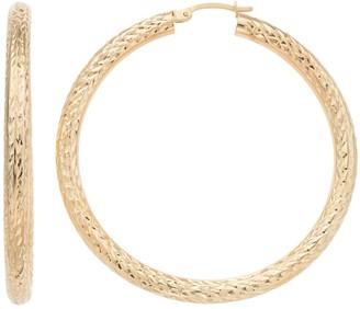 Forever 14k Forever 14K Textured Hoop Earrings