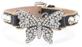 Gucci Embellished leather bracelet