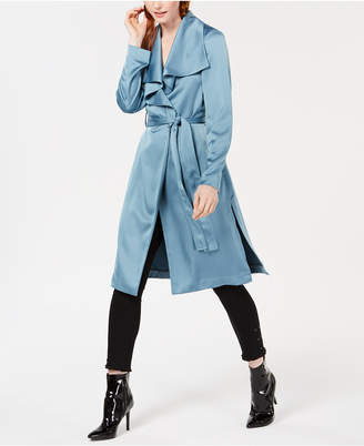 Bar III Drape-Front Duster Jacket