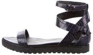 Alexander Wang Embossed Leather Sandals