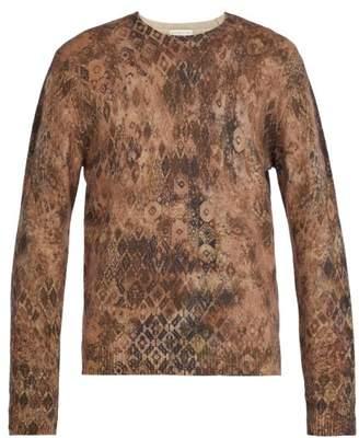 Etro Vintage Print Wool Sweater - Mens - Beige
