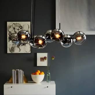 west elm Staggered Glass Chandelier - 8-Light