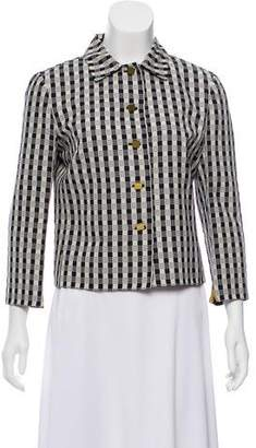 Valentino Striped Button-Up Blazer