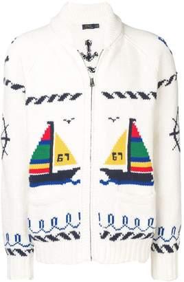 Polo Ralph Lauren boat motif cardigan