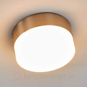 Schlichte LED-Deckenleuchte Nieke, nickel matt