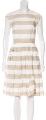 Dolce & Gabbana Striped Knee-Length Dress