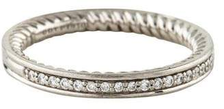 David Yurman Platinum Diamond Eden Half Eternity Band