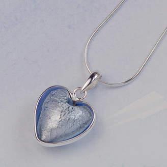 Glass Heart Claudette Worters Murano Sterling Silver Pendant