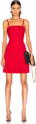 Dion Lee Linear Pleat Mini Dress in Cherry   FWRD
