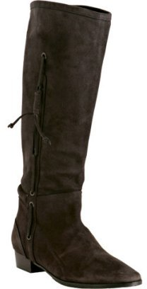 KORS Michael Kors dark brown suede 'Loony' pull-on boots