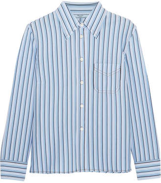 Prada Striped Cotton Shirt - Blue