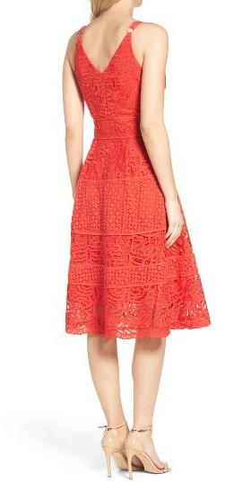 Women's Adelyn Rae Fit & Flare Midi Dress 2