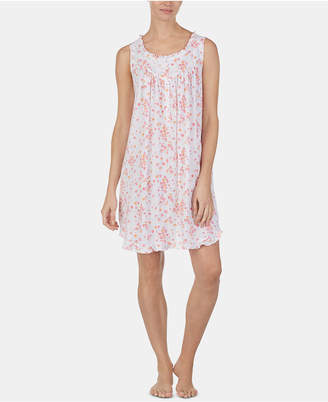 Eileen West Ruffled Cotton Knit Chemise Nightgown