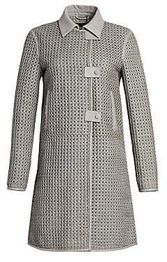 Emporio Armani Women's Woven Lamb Leather Coat