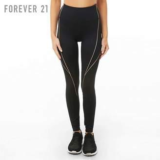 Forever 21 (フォーエバー 21) - Forever 21 メタリックラインスポーツレギンス