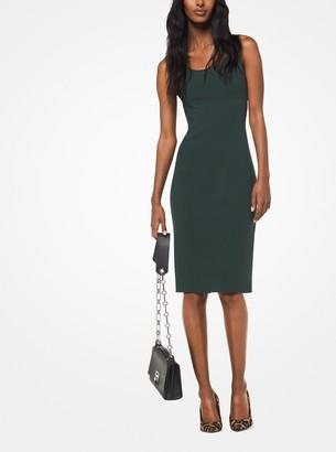 Michael Kors Stretch Wool-Crepe Sheath Dress