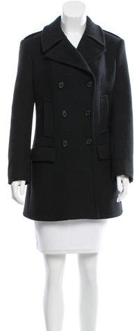 prada Prada Double-Breasted Wool Coat