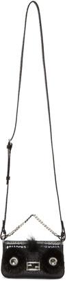 Fendi Black Snakeskin Micro Baguette Bag $1,995 thestylecure.com