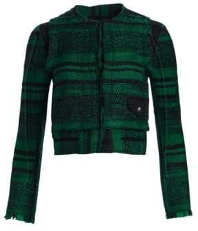Proenza Schouler Cropped Tweed Blazer